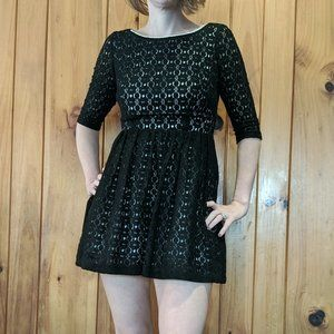 Lilly Pulitzer Lace Alicia Dress 2 Black Keyhole
